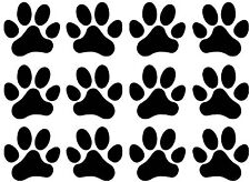 "Black 1 1/2"" Dog Cat Paw Print 5""X7"" Card Fused Glass Ceramic Decals 17Cc881"