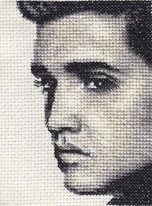ELVIS PRESLEY Full counted cross stitch kit Fido Stitch Studio