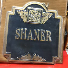Whitehall Products SHANER Sign Black Gold Outdoor