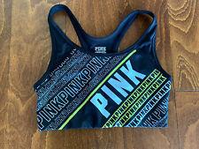 Victoria Secret Pink Sports Bra Size Small Ultimate Unlined Black Neon Yellow