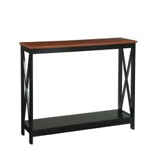 Convenience Concepts Oxford Console Table, Cherry/Black - 203099CH