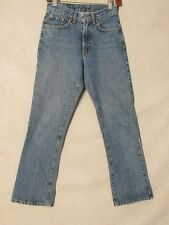 D8794 Lucky Brand 286 Low Rise Flare Killer Fade USA Made Jeans Women's 26x29