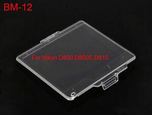 BM-12 Hard Clear Plastic Rear LCD Monitor Screen Cover For Nikon D800 - UK STOCK