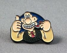 Metal Enamel Pin Badge Brooch Wallace Wallis and Gromit Dog Lad Cheese