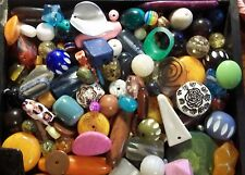 GRAB BAG- Kids Beads, Jewelry making,  Assorted sizes & shapes & colors, 1 lb.
