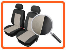 CAR SEAT COVERS fit Renault Clio IV 2012 - on pair for front seats  black/beige