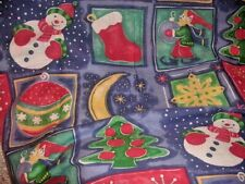 Christmas Faux Patchwork Shower Curtain Cottage Chic