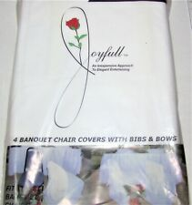 White Look of Cloth Banquet Chair Covers 4/pk #00102