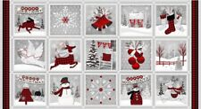 Holiday Homecoming Panel Patchworkstoffe Stoffe Weihnachtsstoffe Patchwork Deko