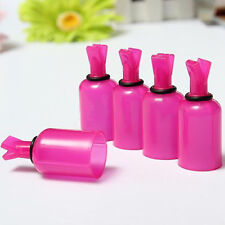 5pcs Plastic Acrylic Nail Art Soak Off Cap Clip UV Gel Polish Remover Wrap Tool