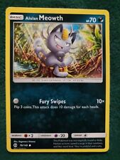 New listing Alolan Meowth - 78/149 - Common Sun & Moon Base Set Pokemon Near Mint