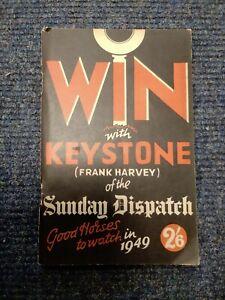 Vintage Win With Keystone (Frank Harvey Of the Sunday Dispatch) 1949 B781