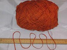 9 x 100g Burnt Orange Chenille knitting wool yarn soft 4ply 900g 9 balls SALE