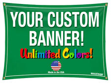 3x30 Full Color Custom Banner 13oz Vinyl DOUBLE SIDED