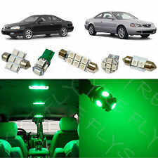8x Green LED lights interior package kit for 2001-2003 Acura CL AC1G