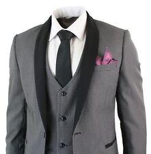 Mens 3 Piece Tuxedo Dinner Suit Round Shawl Collar Black Marc Darcy Smart Formal