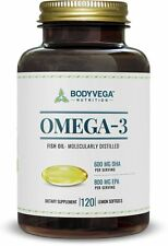 Omega 3 Fish Oil Triple Strength Molecularly Distilled Highest Quality - New