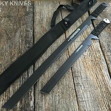 2PC HUNTING NINJA MACHETE KNIFE MILITARY TACTICAL SURVIVAL SWORD COMBAT