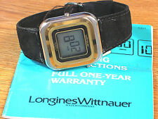 Longines Wittnauer Original Swiss Vintage LCD Men's Wrist Watch w/ Box & Papers