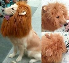 US Pet Costume Lion Mane Wig with Ears for Dog Cat Xmas Clothes Fancy Dress up-L