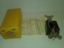 HUBBELL 9801 FLUSH TOGGLE SWITCH SINGLE POLE 5A 250V 10A 125V BROWN, HBL9801 NIB