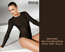 Wolford New York String Body * L * moca * BNIB... Seamless Knitting technique