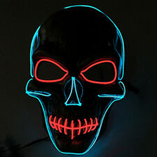 2017 LED Guy Fawkes Vendetta Skull Mask EL Rave EDM Haloween Party Cosplay Movie