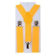 Elastic Adjustable Brace Yellow 1PCS Kids Boy Girls Toddler Clip-on Suspenders