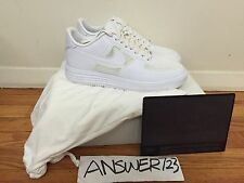 Nike Lunar Force 1 The Future One Fuse Sz9.5 White 30th Anniversary Acronym AF1