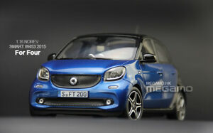 1/18 Norev Mercedes-Benz Smart W453 For Four 2015 Blue Diecast Open Model