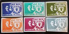 Stamp FRANCE CURIOSITY - ISLAND ROY n°150 à 155 Not serrated n (Cyn23)