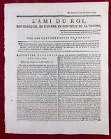 Falaise en 1791 Calvados Argentan Orne Baugé Saint Omer Royalisme Révolution