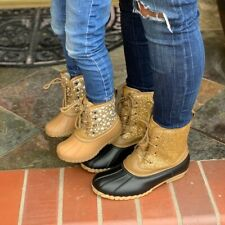 NEW *LADIES GOLD GLITTER DUCK BOOTS. SIZE 5.5.6.6.5.7.7.5.8.8.5.9.10.11