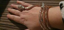 Hand bracelet finger ring