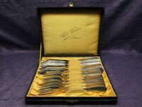 Fischbesteck für 6 Personen Bruckmann Modell 340 1905 Jugendstil sehr selten sf