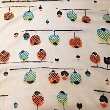 Vtg MCM Fabric Material Textile Jersey Abstract Balloons Birds Trees Design