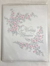 vtg Our Wedding Memories album 1967 unused padded hardcover guest book