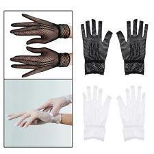 1Pair Ladies Lace Gloves Elegant Short Gloves Fishnet Summer Gloves for Wedding