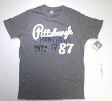 University of Pittsburgh Panthers Rivalry Threads men's graphic t-shirt M gray