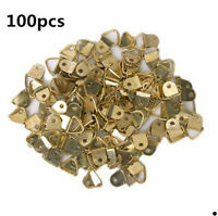100pcs Small Triangle D-Ring Picture Frame Strap Hangers Single Hole