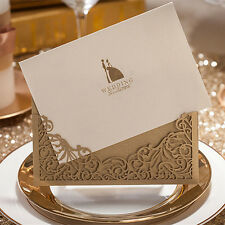 160pcsPersonalised Paper Handmade DIY Laser Cut Lace Wedding Invitation Envelope