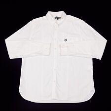 Lyle & Scott Heritage Botones Camisa | Grande | Collar Algodón Retro Vintage