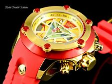 Invicta Marvel IRON MAN 52mm Subaqua Carbon Limited Ed Quartz Red & GOLD Watch