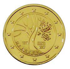 2 euro-estonia 2012 - 2017 - 24 quilates dorado-muchos cursos de año disponible