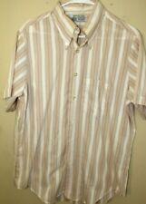 Vintage Kmart Men's 16 Button Front Shirt Striped Permanent Press Single Stitch