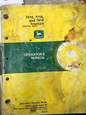 John Deere Operators Manual 7610, 7710, 7810 Tractors #Omar172268 Used