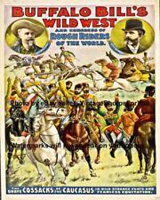 Buffalo Bill Cody Wild West Congress Rough Riders of the World Ad Wall Art Photo