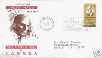 Canada 1969 5¢ Vincent Massey, addressed FDC with JACKSON cachet - Sc #491