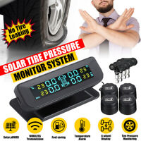 Wireless Solar TPMS Car Tire Tyre Pressure LCD Monitor System 4 External Sensors