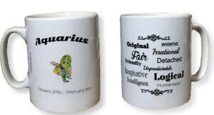Aquarius Star Sign Mug. Zodiac Mug With Description. Birthday, Christmas Mugs.
